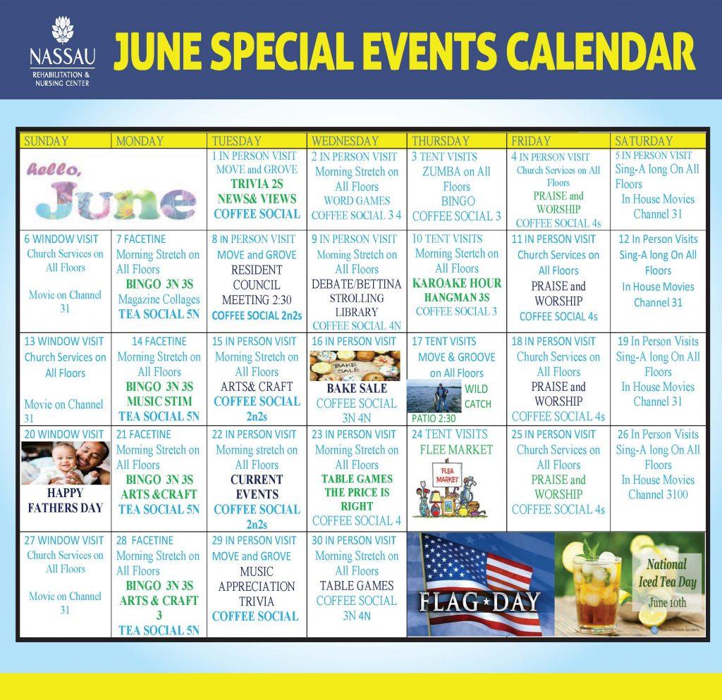 Nassau June 2021 Event Calendar