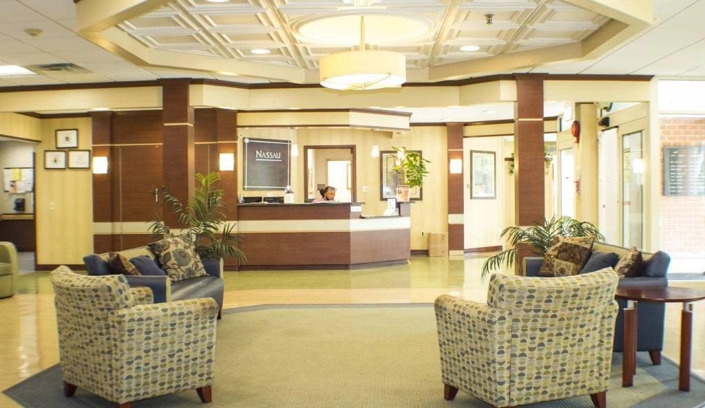 Lobby at Nassau Rehabilitation & Nursing Center