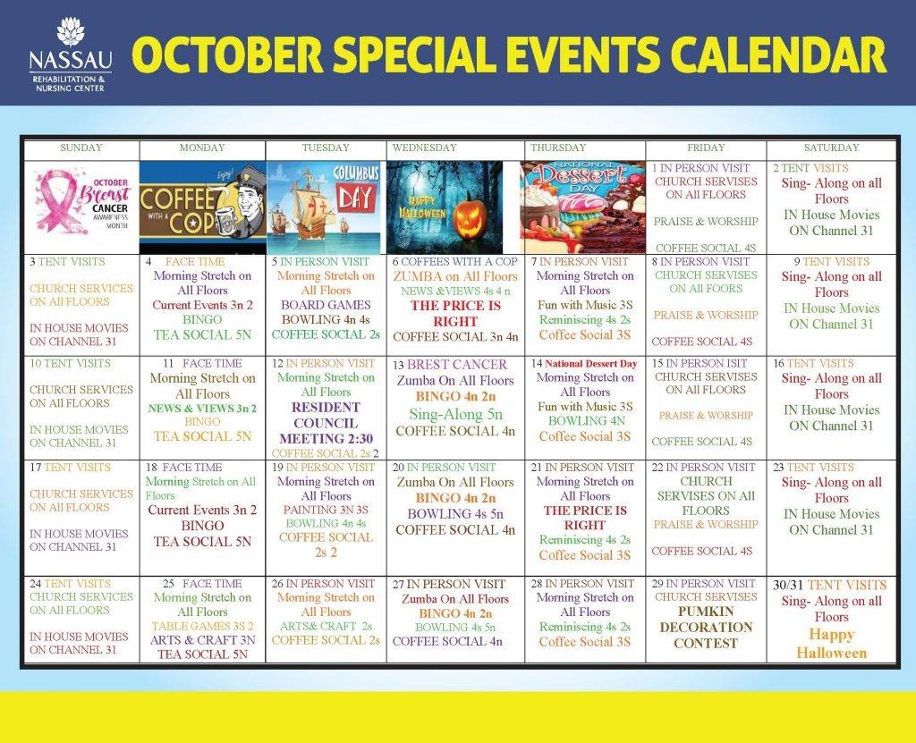Nassau October 2021 Event Calendar